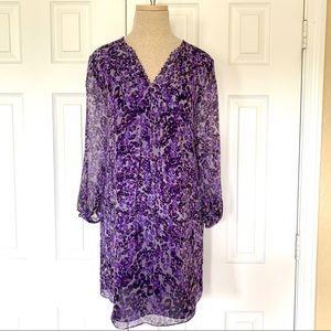 NWT Diane Von Furstenberg DVF Purple Aria Dress 8